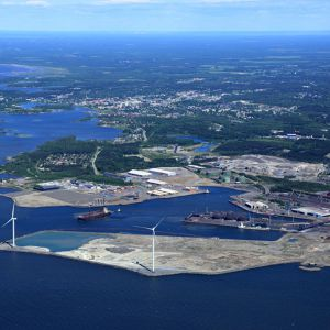 Port of Raahe, aerial view